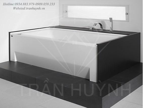 bồn tắm đá solid surface đen trắng4