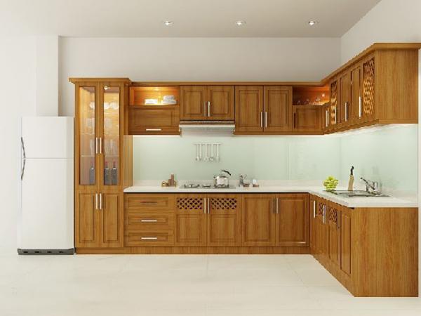 Tủ bếp gỗ tự nhiên 1